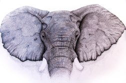 Pointillism Elephant